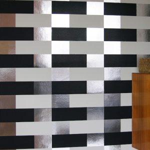 TAPETAI BLOCK Black_white_silver