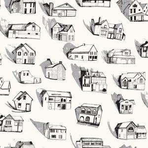 TAPETAI HOTHOUSE Black_Grey_Cream 2