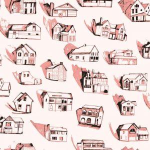 TAPETAI HOUSES Pink_Cream 2