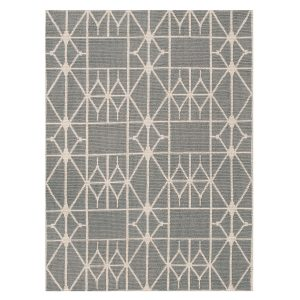 Kilimai Dekorama Linie design meta grey