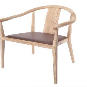 Baldai kede dekorama Shanghai Lounge Chair, Leather 1