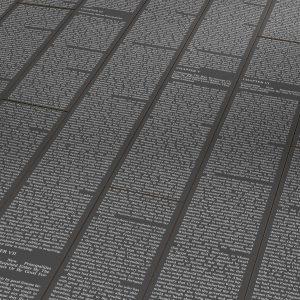 Laminatas Dekorama Parador Letters Black