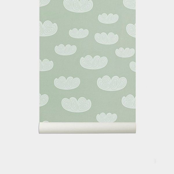 TAPETAI FERMLIVING, Cloud Wallpaper - Mint
