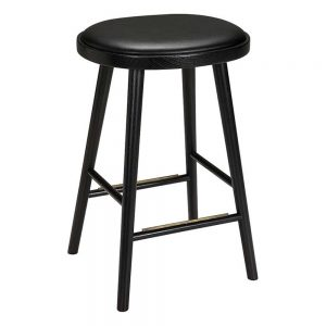 baro kėdės Colibri barstool 74cm oak black, bonded leather black emb 670S-63PA