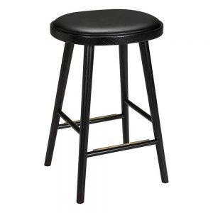 baro kėdės Colibri barstool 74cm oak black, bonded leather black emb 670S-63PA