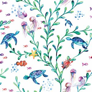 TAPETAI, OVER THE RAINBOW, UNDER THE SEA WHITE, 90940