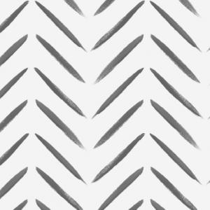 TAPETAI, CHEVRON BRUSH MARKS, BLACK AND WHITE, 13040